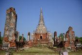 Wat Phra Si Sanphet is in Ayutthaya,Thailand — Stock Photo