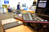 The mechanic tool box — Stock Photo