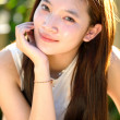 Portrait of beautiful healthy asian girl — Stock Photo