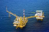 Plate-forme de plate-forme pétrolière offshore vue de dessus — Photo