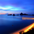 Stock Photo: Sunrise view of Ao Manao bay in Prachuap Khiri Khan, Thailand
