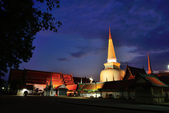 Wat Phra Mahathat Woramahawihan is the main Buddhist temple of N — Stock Photo