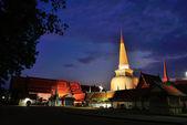 Wat Phra Mahathat Woramahawihan is the main Buddhist temple of N — Stock Photo