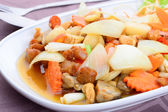 Chicken Fried with Cashew Nuts — Stock Photo