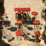 Bar terrace — Stock Photo