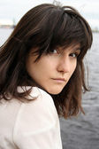 Beautiful serious woman — Stock Photo