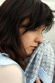 Gråter ledsen kvinna — Stockfoto