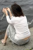 Woman back — 图库照片