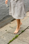 Woman barefeet — Stock Photo
