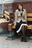 Attractive elegant woman — Stock Photo