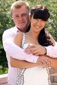 Gelukkige bruid en bruidegom — Stockfoto