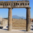 Columns of agora, and Vesuvius in background — Stock Photo #12070441