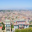 View of the city of Naples from the top - Stock Photo