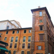 The buildings of the historical center of Rome - Stock Photo