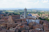 Widok z góry katedry w sienie — Zdjęcie stockowe