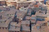 Pannendaken van het middeleeuwse stadje — Stockfoto