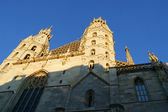 The facade of the cathedral of St. Stephen in Vienna — Stock Photo