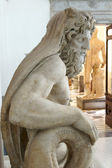 Statue of Neptune at the entrance of Neapolitan Museum — Stock Photo