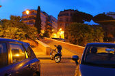 Evening Rome in night light — Stock Photo