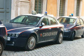 Cars Italian Carabinieri in Rome — Stock Photo
