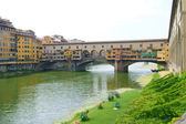 View of the bridge Vecchio in Florence — Stock Photo