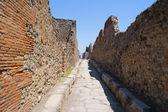 The street in ancient Pompeii — Stock Photo