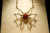 Necklace in the form of a spider — Stock Photo
