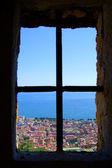 Naples from the window of Saint Elmo — Stock Photo
