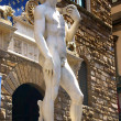 Statue of David in the Piazza della Signoria — Stock Photo