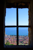 Naples from the window of Saint Elmo — Stock Photo