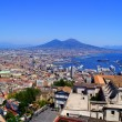 Naples and Mount Vesuvius - Stock Photo