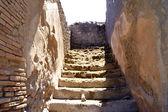 Schody v pompejích — Stock fotografie