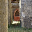 Antique altar in the ruins - Foto de Stock