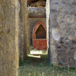Antique altar in the ruins - 