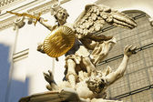 The angel with the golden sword — Stock Photo