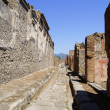 A street in Pompeii - Stock Photo