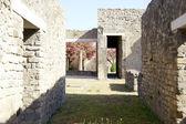 Courtyard at Pompeii — Stock Photo