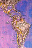Map of South America — Stock Photo