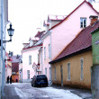 Old street in the center of Tallinn — Stock Photo
