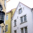 Old Tallinn and lantern - Stock Photo