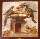 Ancient mosaic from Pompeii — Stock Photo