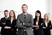 Business with leader — Foto Stock