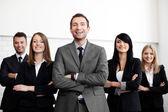 Negócios com líder — Foto Stock