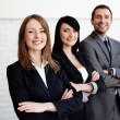 Three business smiling — Foto Stock