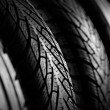 Stock Photo: Snow Tires stack background