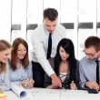 Stock Photo: Group of architects working at office