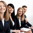Successful businesswoman in group of — Stock Photo