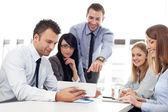 Group of business working with digital tablet — Foto de Stock