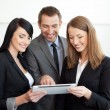 Business with digital tablet — Stock Photo