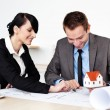 Two architects working — Stock Photo